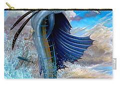 Sailfish And Flying Fish Carry-all Pouch