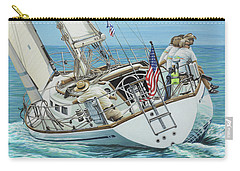 Carry-all Pouch featuring the painting Sailing Away by Jane Girardot