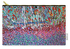 Sailing Among The Flowers Carry-all Pouch by George Riney