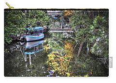 Carry-all Pouch featuring the photograph Sailing Down The River by Deborah Klubertanz