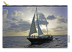 Carry-all Pouch featuring the photograph Sailing In Aruba by Suzanne Stout