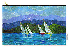 Carry-all Pouch featuring the painting Sailing by Laura Forde