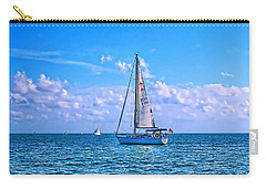 Sailing Off Of Key Largo Carry-all Pouch