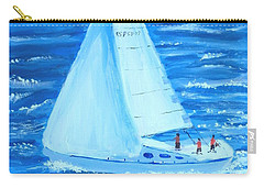 Sailing Off The Coast Carry-all Pouch