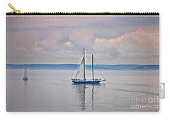 Carry-all Pouch featuring the photograph Sailing On A Misty Morning Art Prints by Valerie Garner