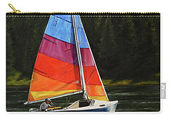 Carry-all Pouch featuring the painting Sailing On Flathead by Kim Lockman