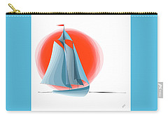 Sailing Red Sun Carry-all Pouch by Ben and Raisa Gertsberg