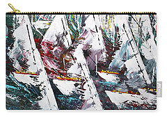 Sailing With Friends - Sold Carry-all Pouch by George Riney