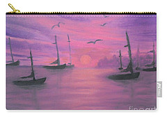 Sails At Dusk Carry-all Pouch by Holly Martinson