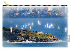 Carry-all Pouch featuring the photograph Sails Out To Play by Miroslava Jurcik