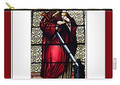 Saint Barbara Stained Glass Window Carry-all Pouch