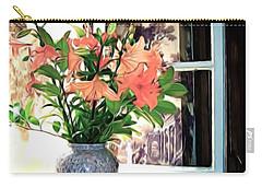 Saint Emilion Window Carry-all Pouch by Joan  Minchak