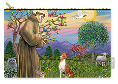 Saint Francis Blesses A Basenji Carry-all Pouch