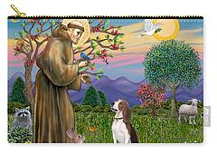 Saint Francis Blesses A Beagle Carry-all Pouch