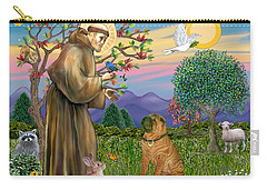 Saint Francis Blesses A Chinese Shar Pei Carry-all Pouch