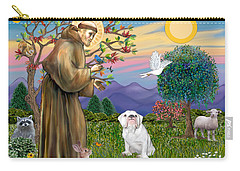 Saint Francis Blesses An English Bulldog Carry-all Pouch