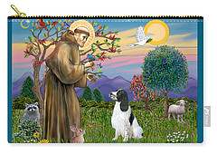 Saint Francis Blesses An English Springer Spaniel Carry-all Pouch
