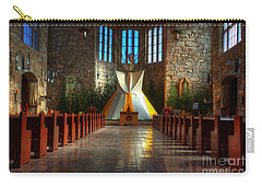 Saint Josephs Apache Mission Carry-all Pouch by Bob Christopher