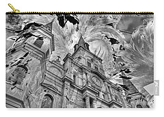 Carry-all Pouch featuring the photograph Saint Louis Cathedral And Spirits by Ron White