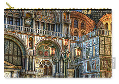 Carry-all Pouch featuring the photograph Saint Marks Square by Jerry Fornarotto