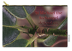 Carry-all Pouch featuring the photograph Saint Michael The Archangel by Jean OKeeffe Macro Abundance Art