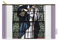 Saint Rose Of Lima Stained Glass Window Carry-all Pouch
