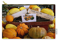 Carry-all Pouch featuring the photograph San Joaquin Valley Squash Display by Michele Myers