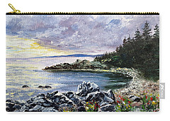 Carry-all Pouch featuring the painting Salisbury Cove by Lee Piper