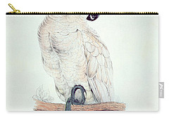Salmon Crested Cockatoo Carry-all Pouch by Edward Lear