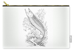 Salmon Carry-all Pouch by Lawrence Tripoli