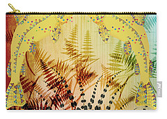 Carry-all Pouch featuring the digital art Salmon Love Gold by Kim Prowse