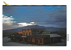 Carry-all Pouch featuring the photograph Saloon Casino Tom Horn Set Mescal Arizona by David Lee Guss