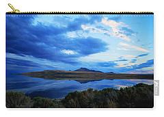 Carry-all Pouch featuring the photograph Salt Lake Antelope Island by Matt Harang