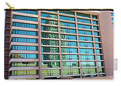 Carry-all Pouch featuring the photograph Salt Lake City Architecture Reflection by Ely Arsha
