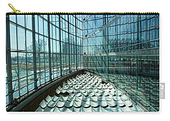 Carry-all Pouch featuring the photograph Salt Lake City Library by Ely Arsha