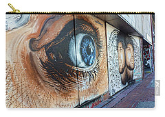 Carry-all Pouch featuring the photograph Salt Lake City - Mural 1 by Ely Arsha