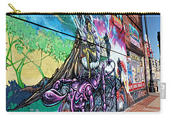 Carry-all Pouch featuring the photograph Salt Lake City - Mural 3 by Ely Arsha