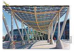 Carry-all Pouch featuring the photograph Salt Lake City Police Station - 2 by Ely Arsha