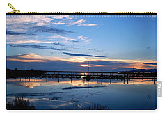 Carry-all Pouch featuring the photograph Salt Lake Marina Sunset by Matt Harang