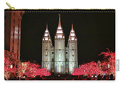 Carry-all Pouch featuring the photograph Salt Lake Temple - 1 by Ely Arsha