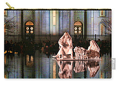 Carry-all Pouch featuring the photograph Salt Lake Temple - 2 by Ely Arsha
