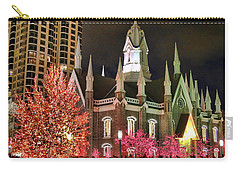 Carry-all Pouch featuring the photograph Salt Lake Temple - 3 by Ely Arsha