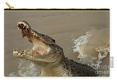 Salt Water Crocodile 2 Carry-all Pouch by Bob Christopher