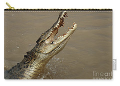 Salt Water Crocodile Australia Carry-all Pouch by Bob Christopher