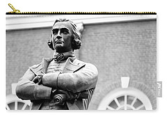 Samuel Adams Statue State House Boston Ma Black And White Carry-all Pouch