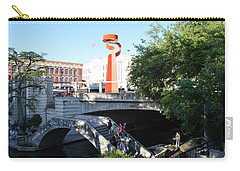 Carry-all Pouch featuring the painting San Antonio River 01 by Shawn Marlow