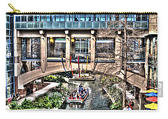 Carry-all Pouch featuring the photograph San Antonio Riverwalk by Deborah Klubertanz