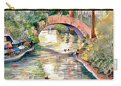 San Antonio Riverwalk Carry-all Pouch by Marilyn Smith