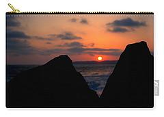 Carry-all Pouch featuring the photograph San Clemente Rocks Sunset by Matt Harang