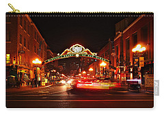 Carry-all Pouch featuring the photograph San Diego - Gaslamp Quarter by Glenn McCarthy